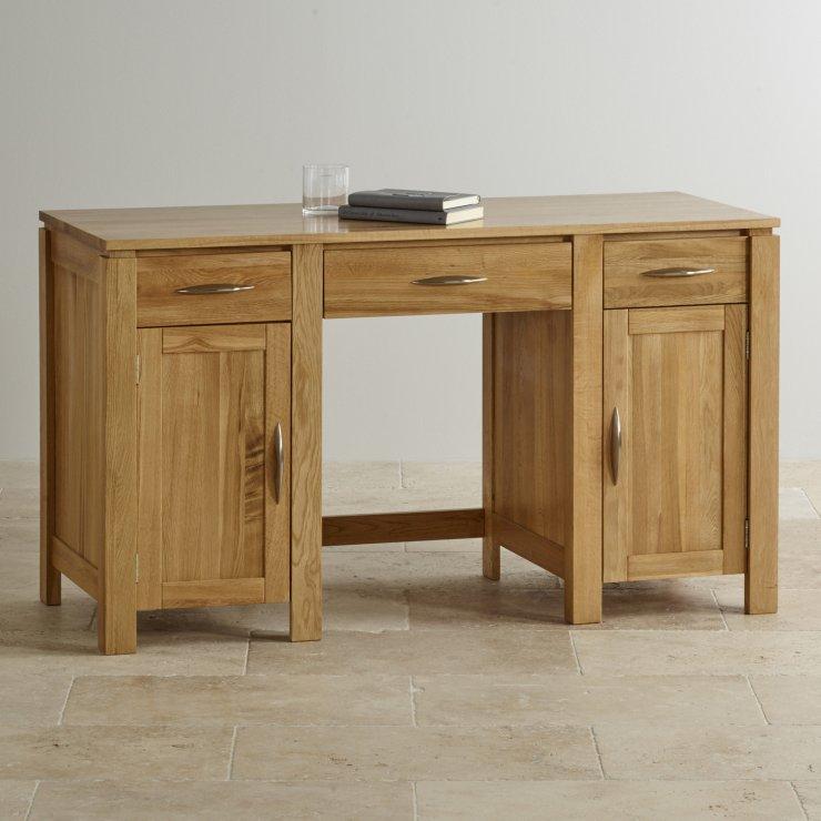 Galway Large Computer Desk In Solid Oak Oak Furniture Land