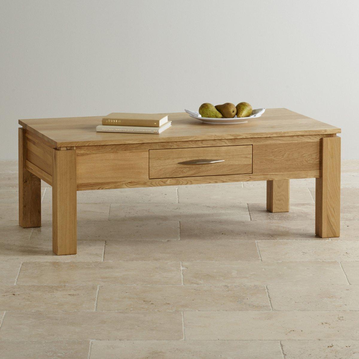 Galway Large Coffee Table In Solid Oak Oak Furniture Land