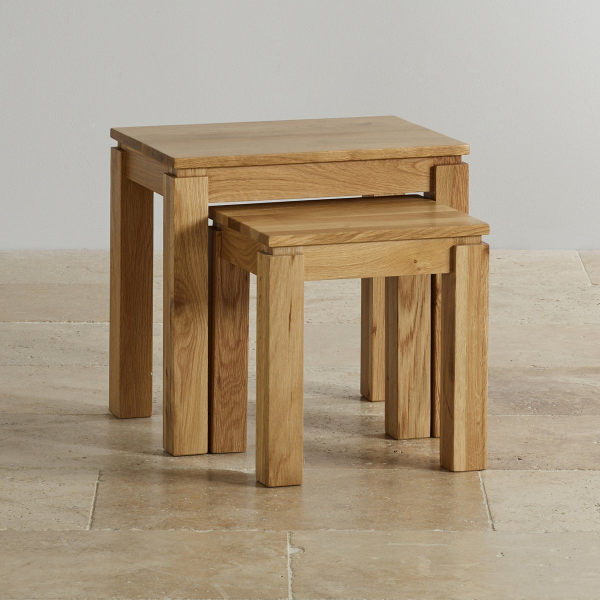 Galway Nest Of 2 Tables In Solid Oak Oak Furniture Land