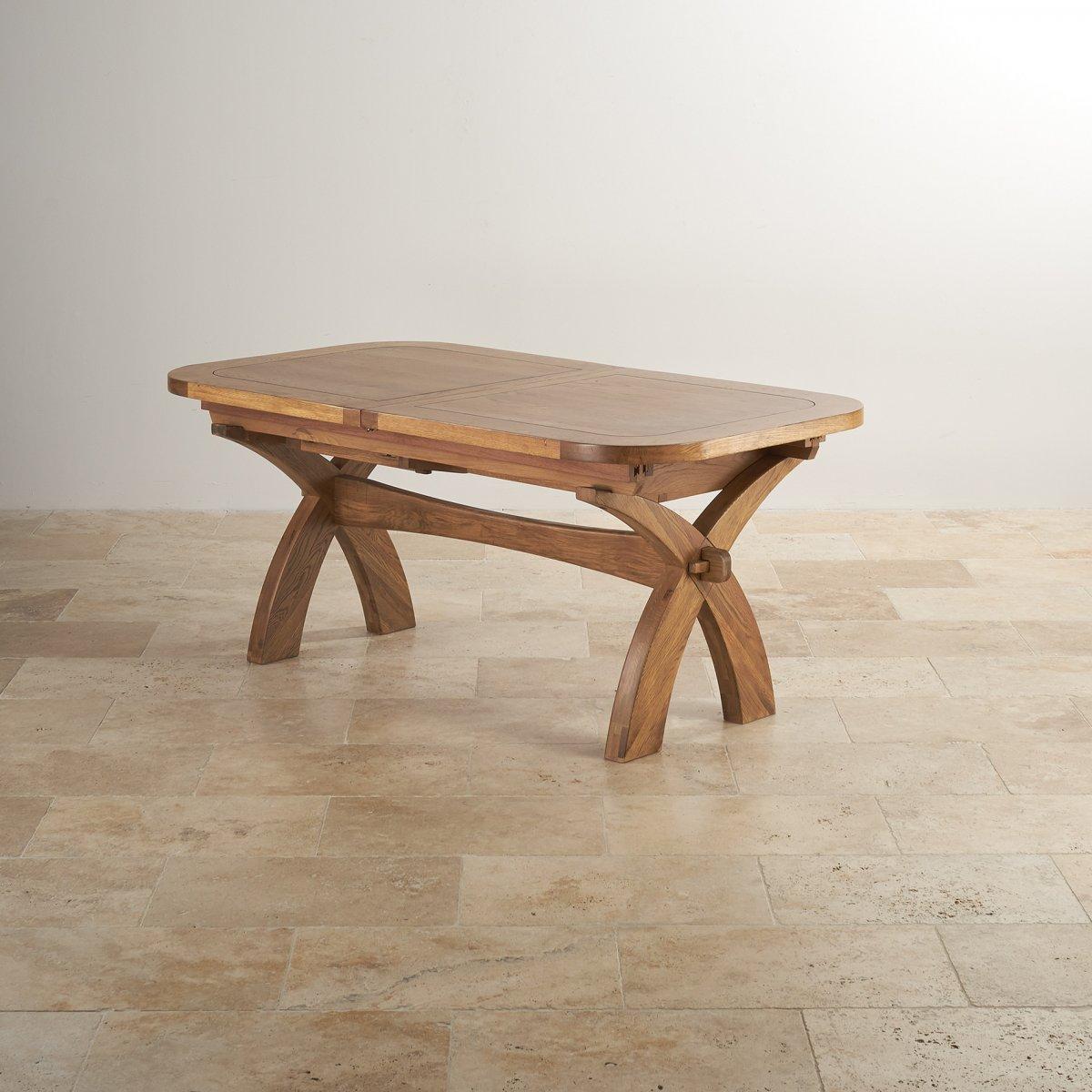 Hercules Dining Set In Rustic Oak Extending Table 10