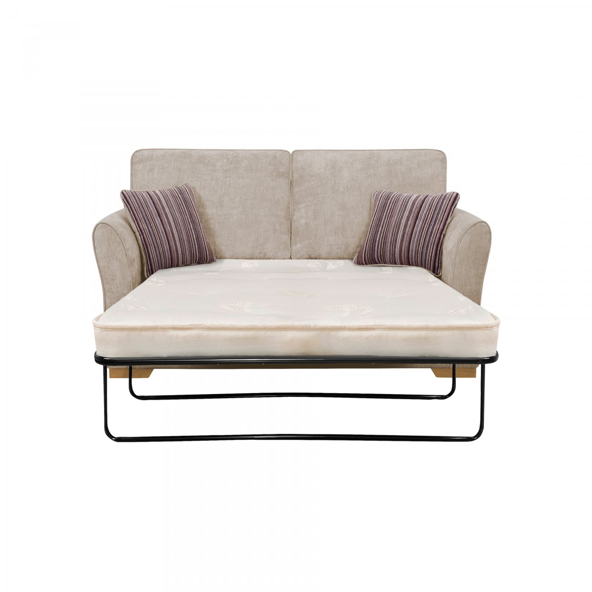 Jasmine 2 seater sofa bed with deluxe mattress in silver for Sofa bed 180cm