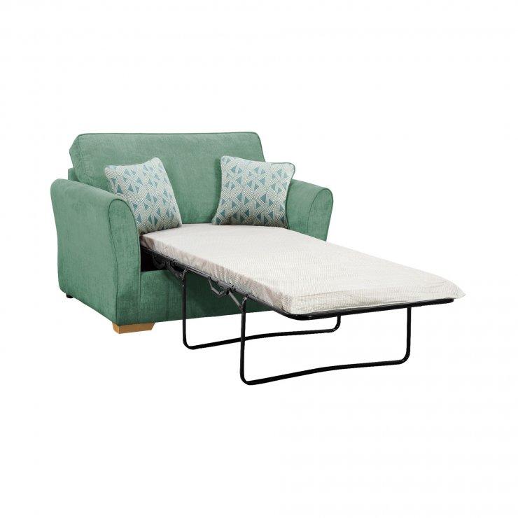 Jasmine Armchair Sofa Bed with Standard Mattress in Cosmo Jade