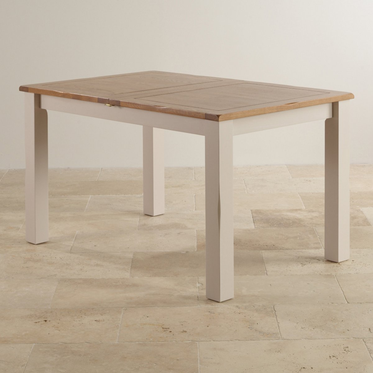 Kemble Rustic Solid Oak Painted 4ft 7 x 3ft Extending Dining Table