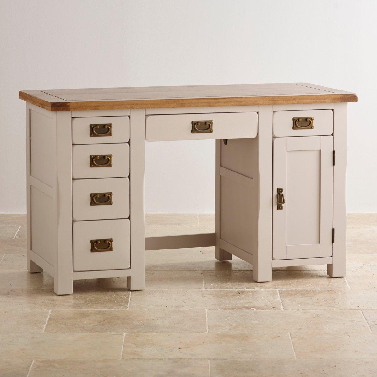 Kemble Painted Computer Desk In Solid Oak Oak Furniture Land