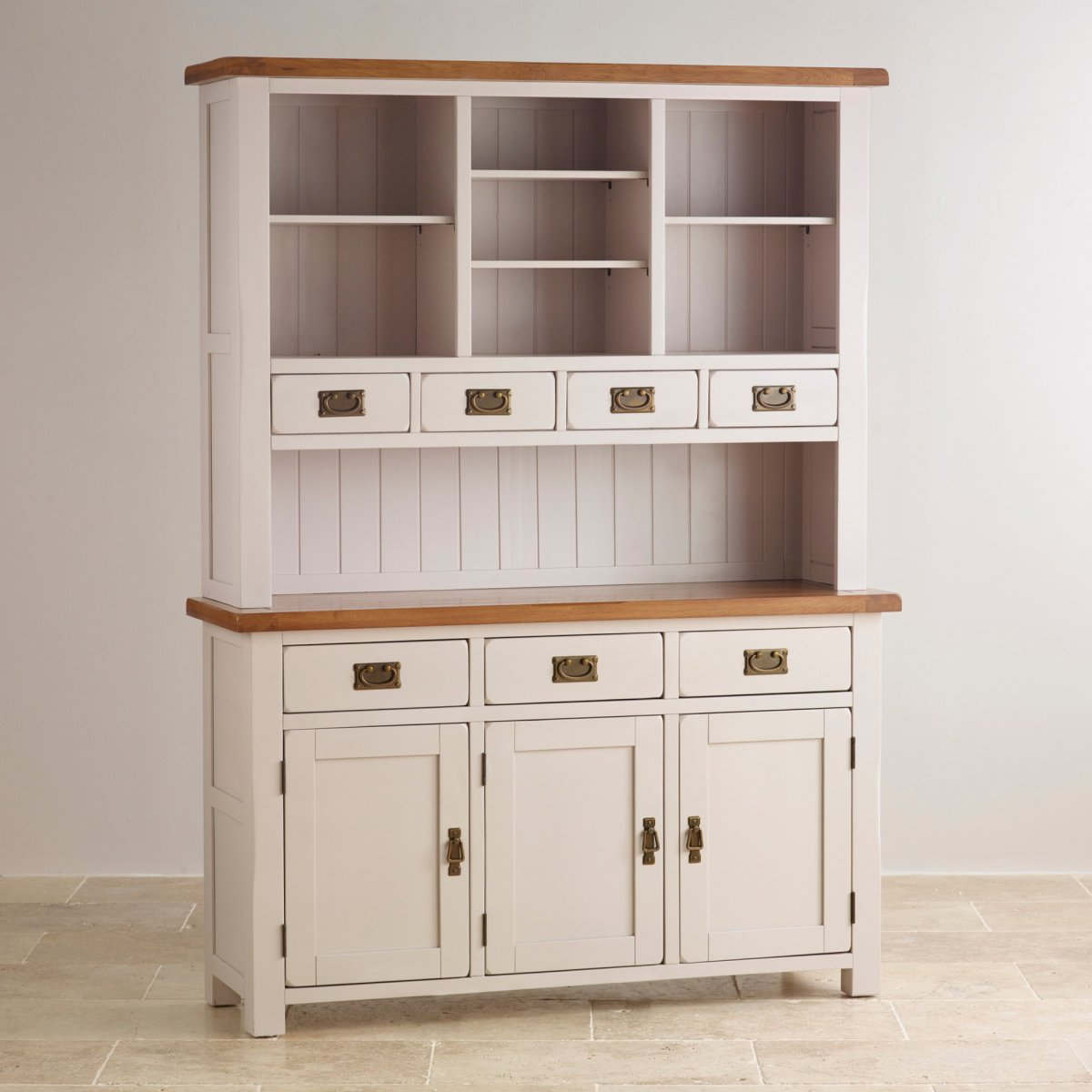 Rustic painted furniture - Custom Delivery Kemble Rustic Solid Oak And Painted Large Dresser