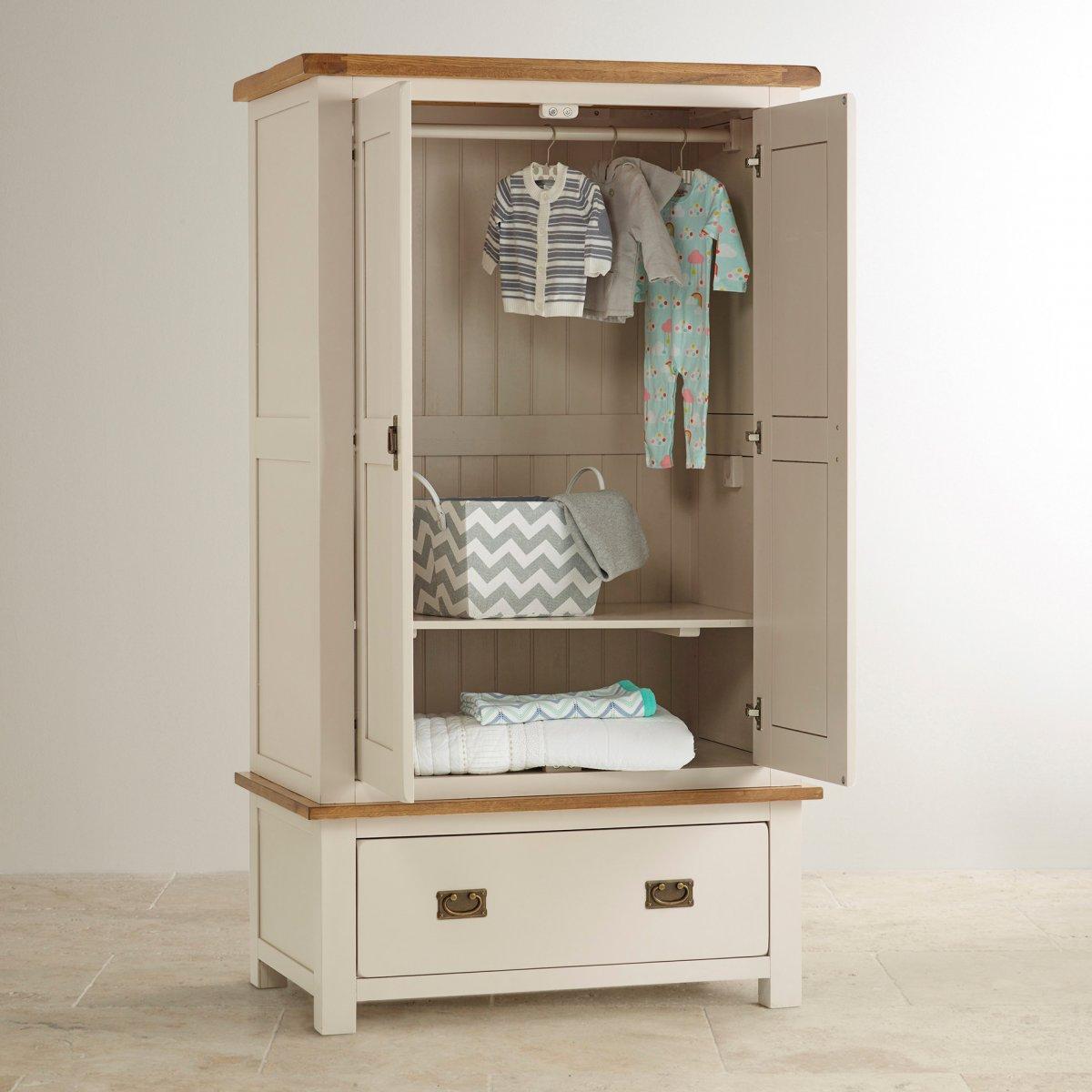 Kemble Nursery Wardrobe in Rustic Solid Oak | Oak ...