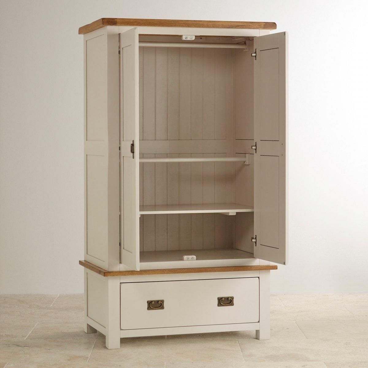 Kemble Nursery Wardrobe in Rustic Solid Oak   Oak Furniture Land
