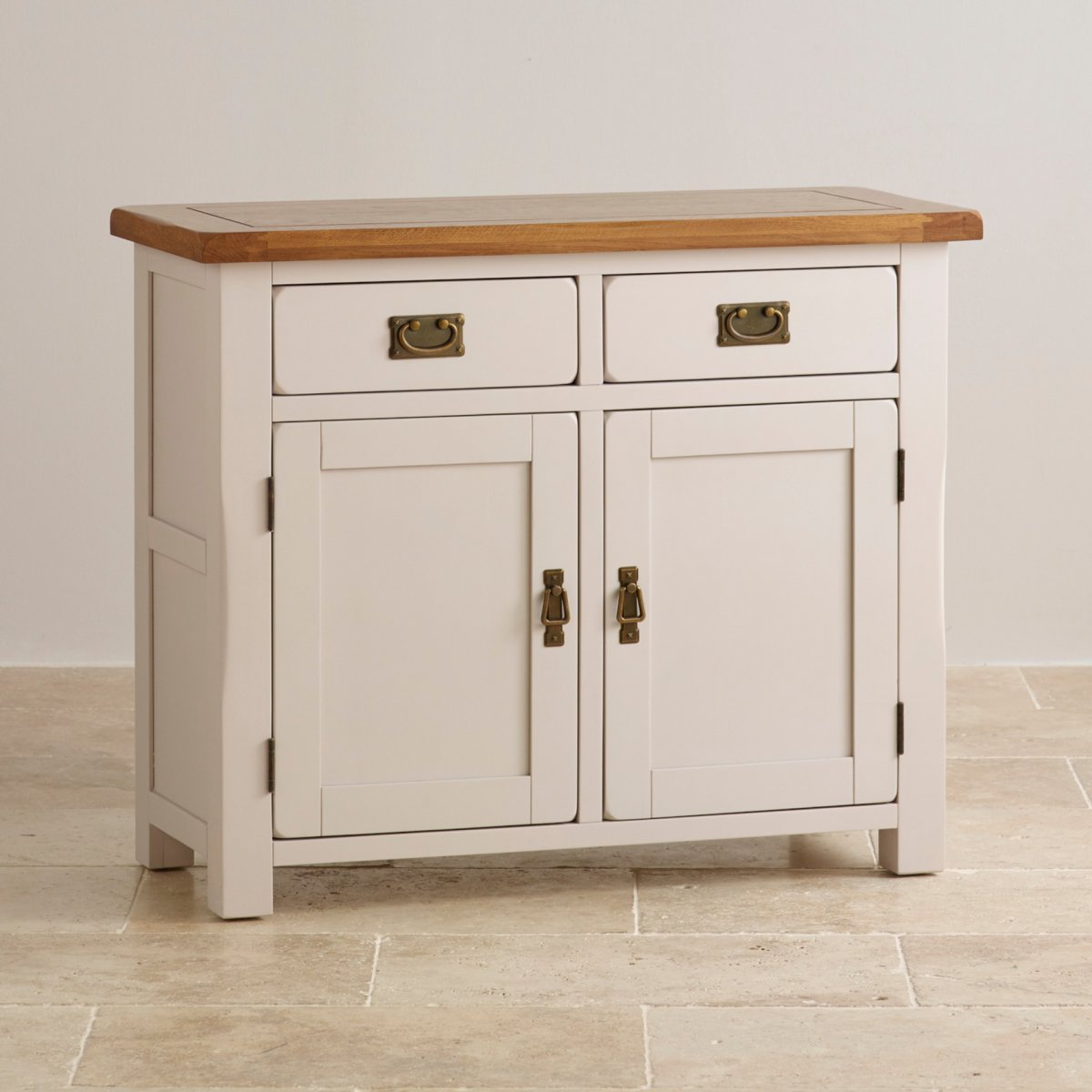 Kemble small painted sideboard in rustic solid oak for Furniture board