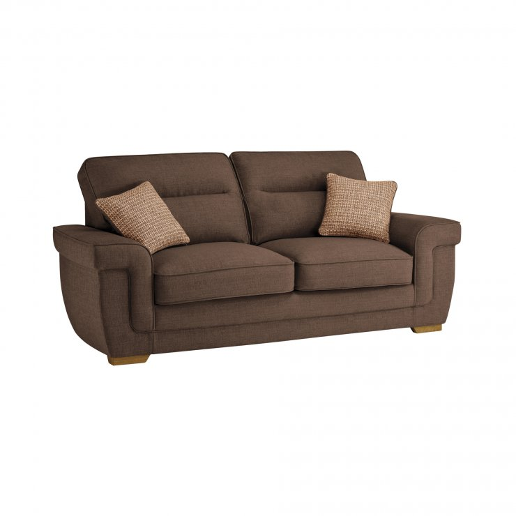 Kirby 3 Seater Sofa Bed with Deluxe Mattress in Barley Mocha