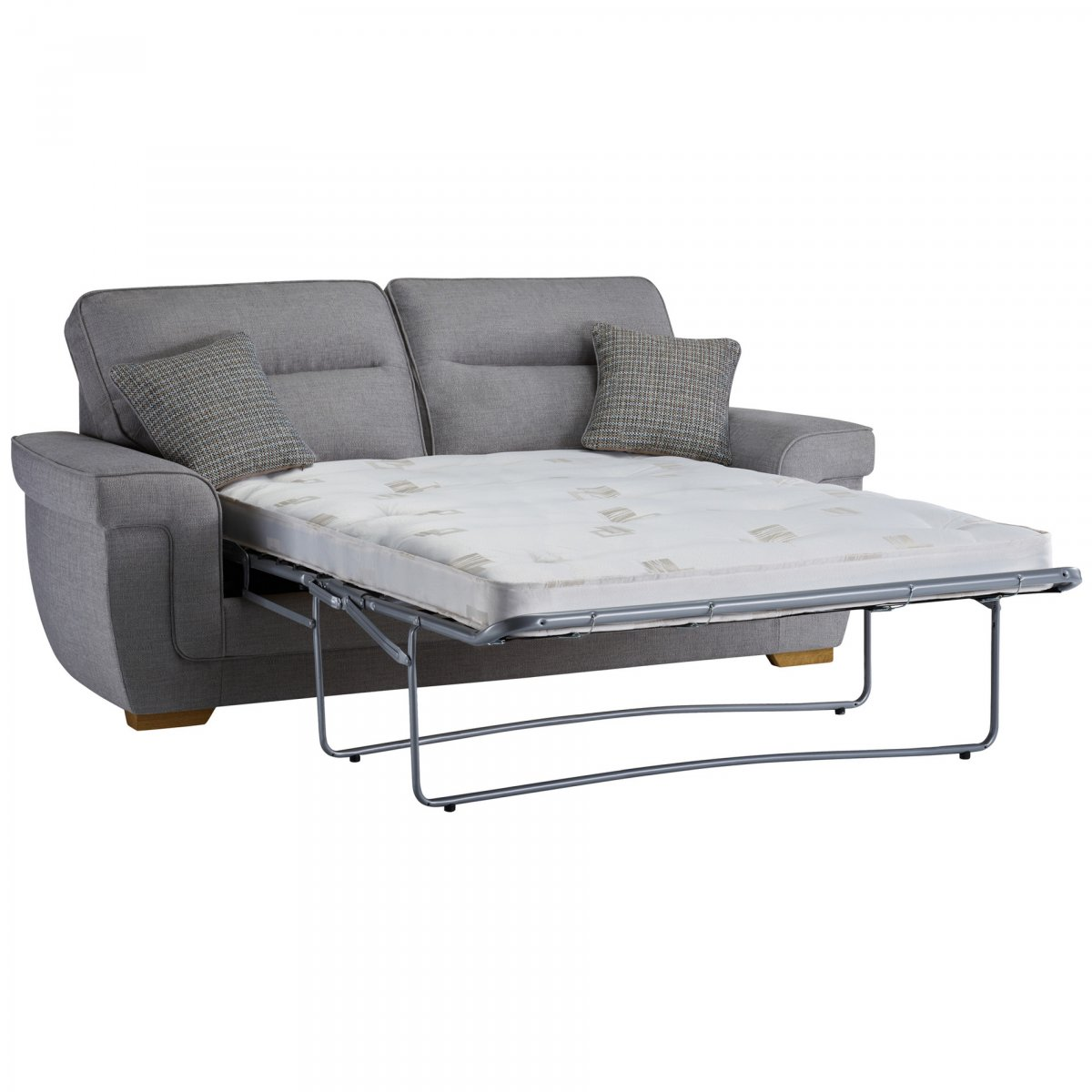 Kirby 3 seater sofa bed with deluxe mattress barley silver for Sofa bed extension