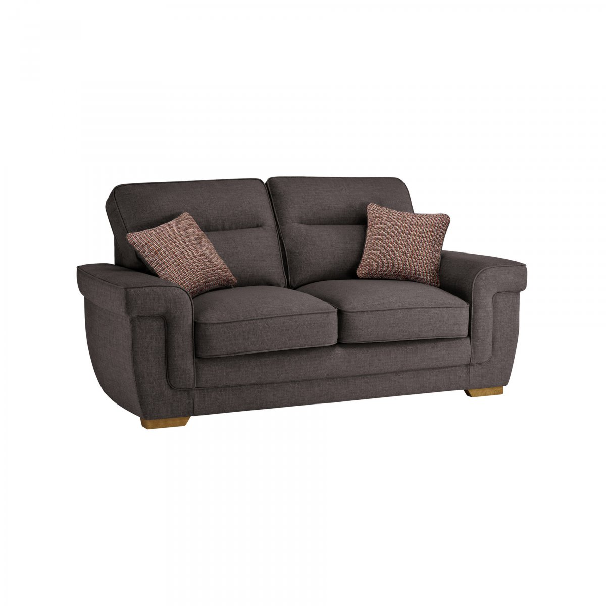 Kirby 2 seater sofa bed with deluxe mattress barley grey for Sofa bed 4 6