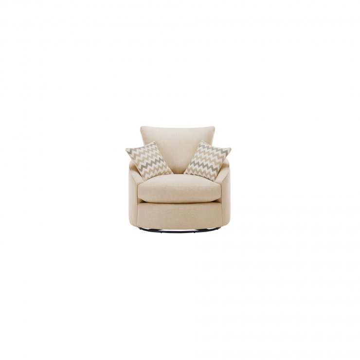 Maddox Twist Chair in Delia Beige with Beige Scatter