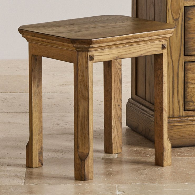 Manor House Vintage Solid Oak Dressing Table Stool