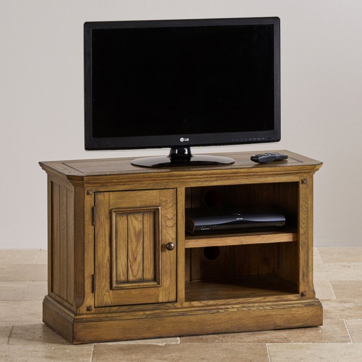 Manor House Vintage Solid Oak Small TV Cabinet