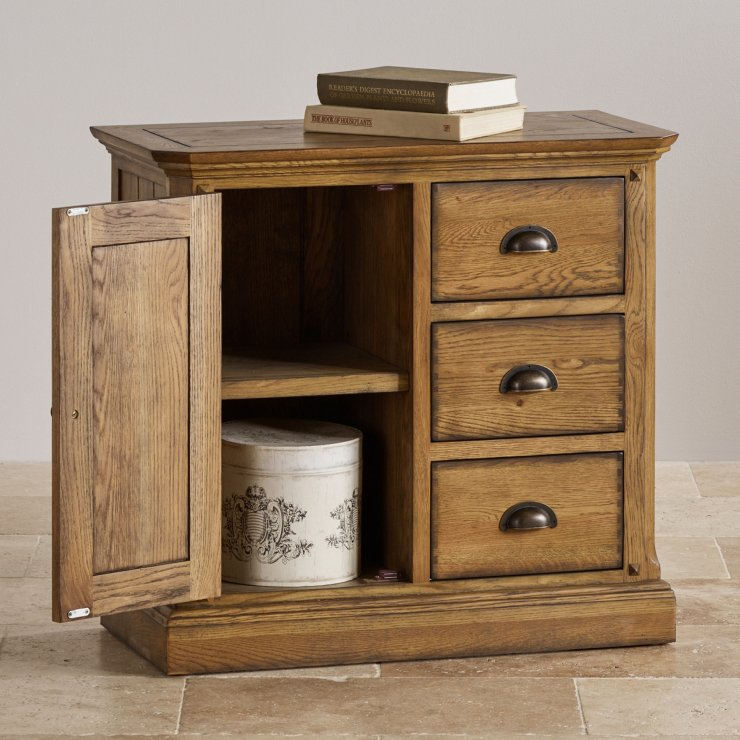 Manor House Vintage Solid Oak Storage Cabinet
