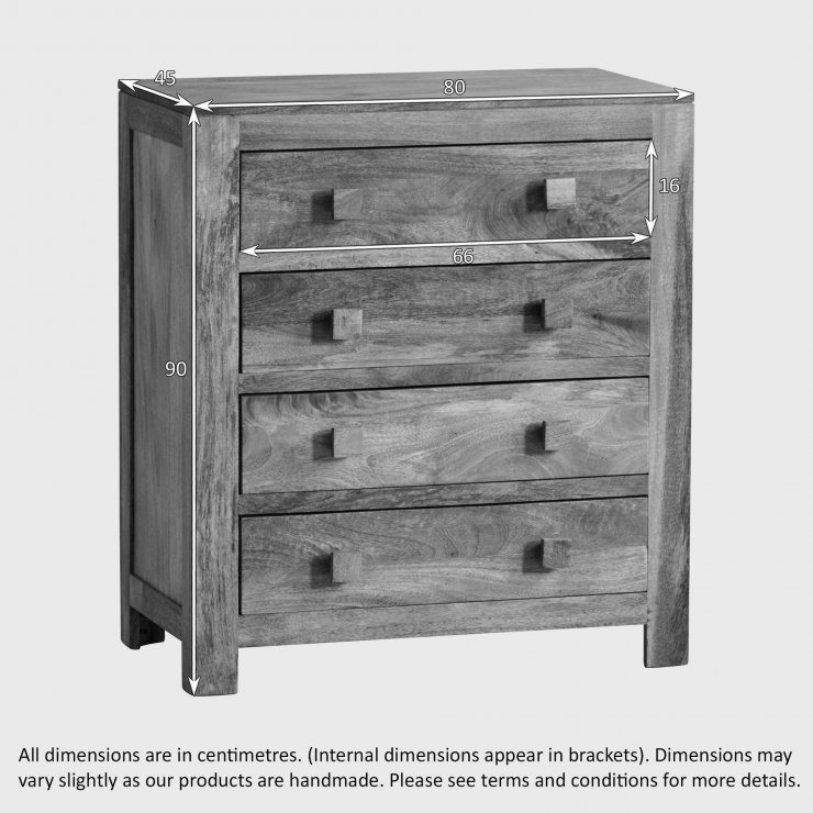 Mantis Light Natural Solid Mango 4 Drawer Chest