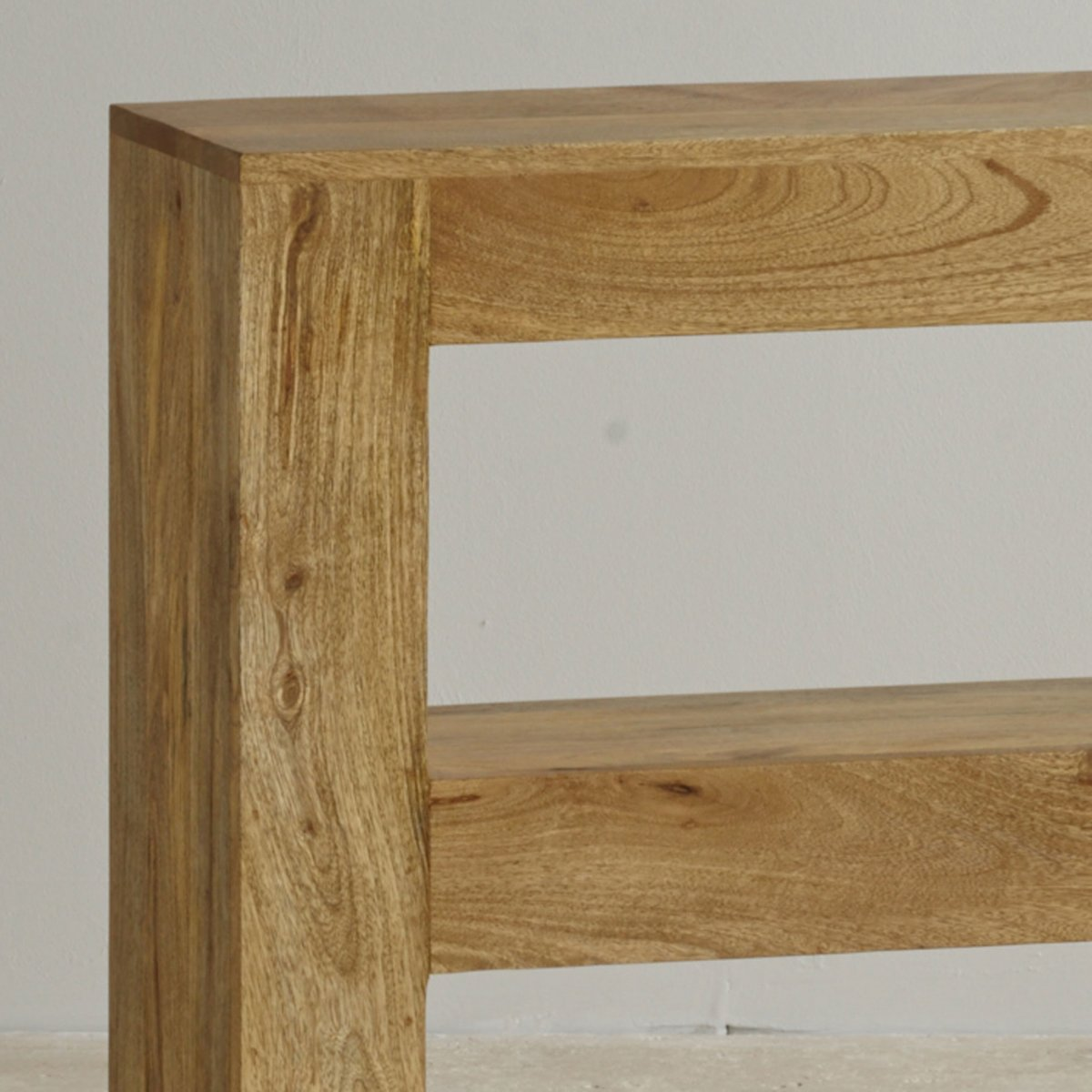 Light wood console table - Mantis Light Natural Solid Mango Console Table Sorry Your Browser Does Not Support This Video