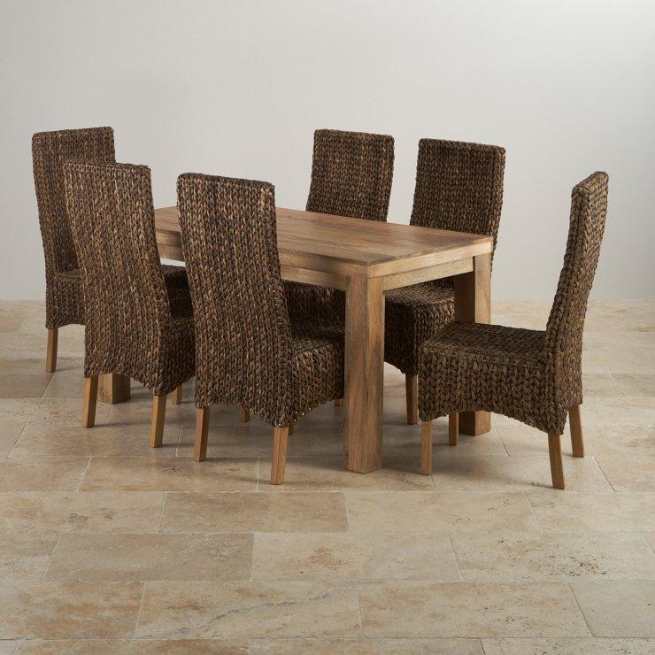 Mantis Light Mango Dining Set 5ft Table with 6 Chairs : mantis light natural solid mango dining set 5ft table with 6 high back grass chairs 570f66e7dbd69510e6e18de979ae1bbee27871a45902b from oakfurnitureland.co.uk size 740 x 740 jpeg 94kB