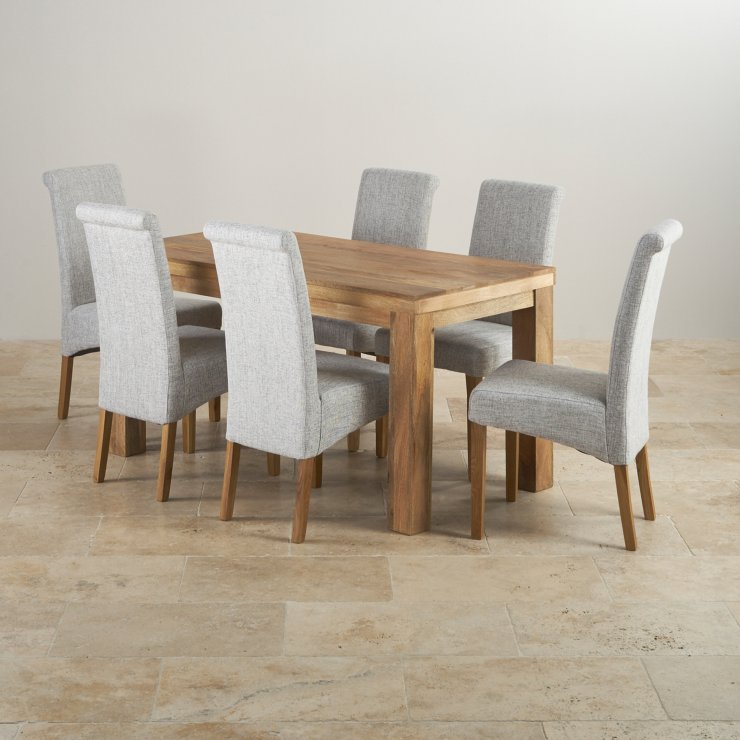 Light Oak Dining Room Table And Chairs: Mantis Light Mango Dining Set
