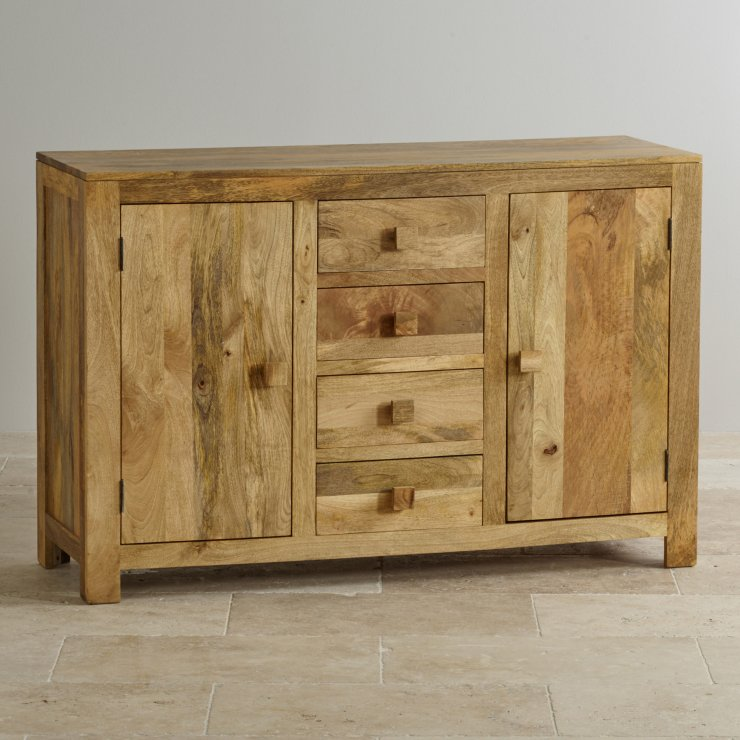 Mantis Light Large Sideboard In Solid Mango Oak Furniture Land