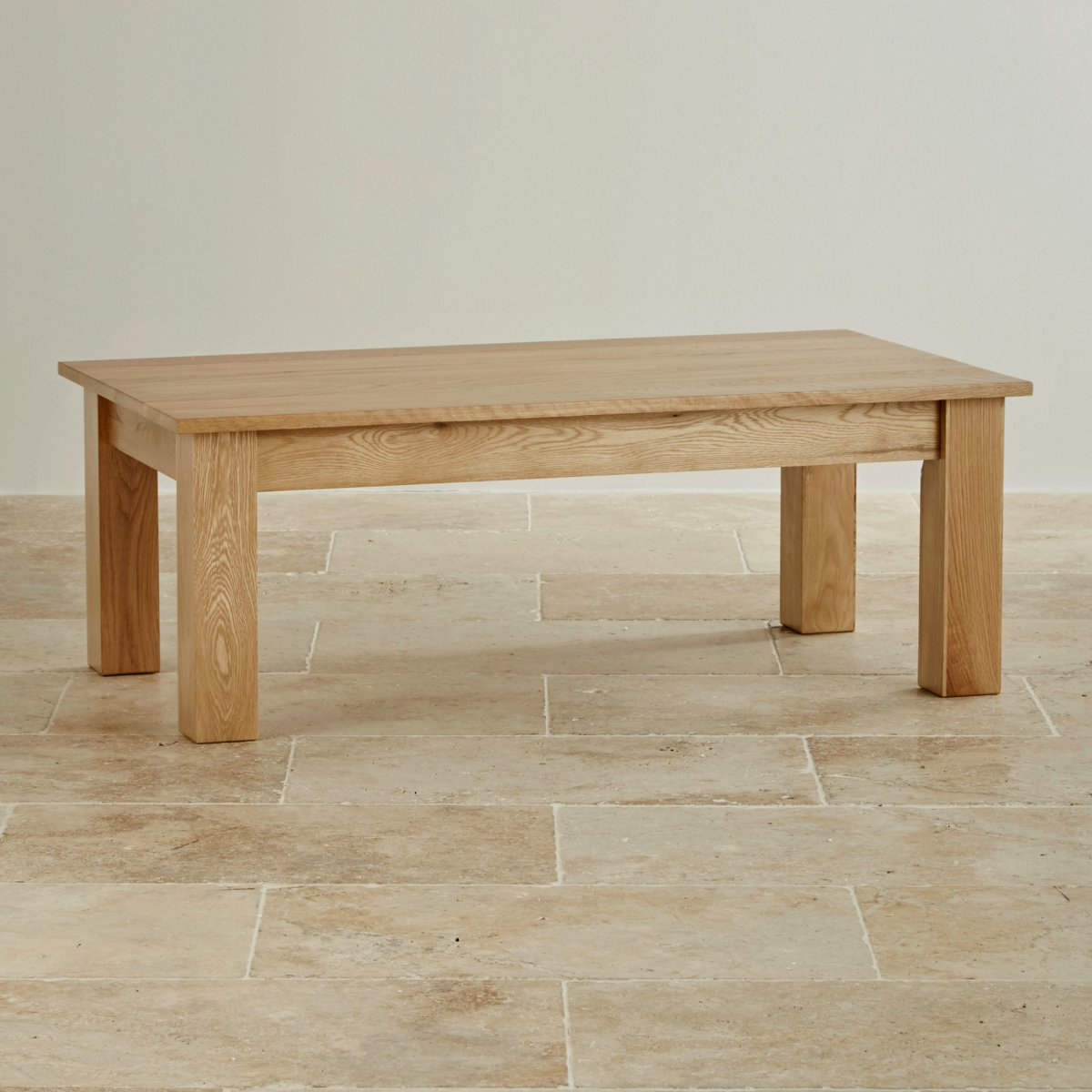 Natural Solid Oak Minimalist Coffee Table By Oak Furniture Land