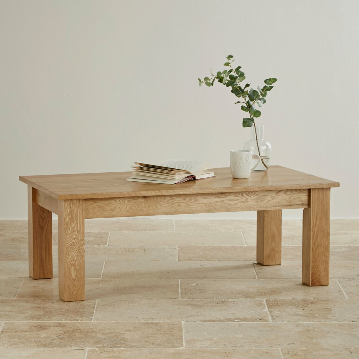 Minimalist Table Natural Solid Oak Minimalist Coffee Table By Oak Furniture Land