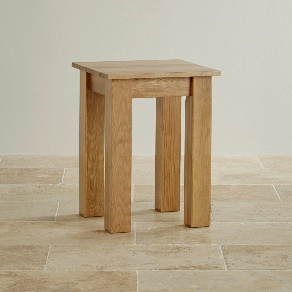 Natural Solid Oak Minimalist Lamp Table Living Room
