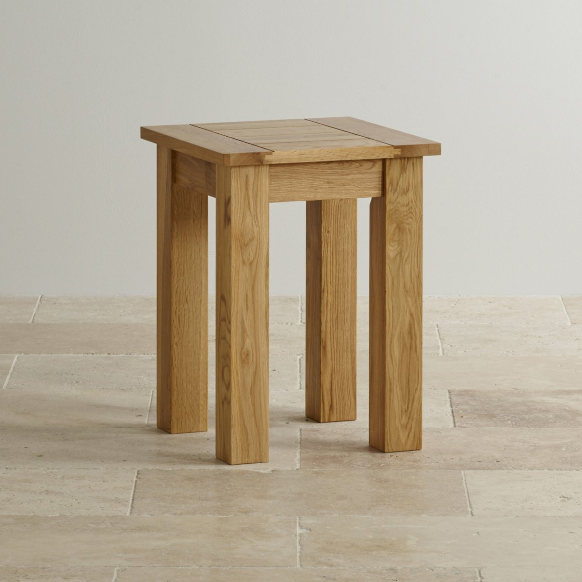 Contemporary Natural Solid Oak Lamp Table Oak Furniture Land