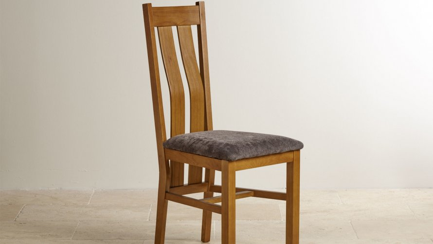 Oak With Fabric Dining Chairs Oak Dining Room Furniture