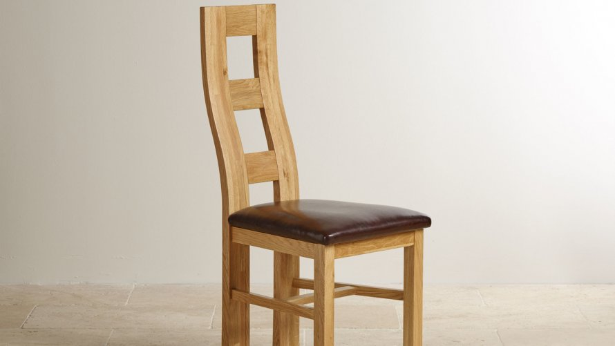 Oak And Leather Dining Chairs Oak Furniture Land