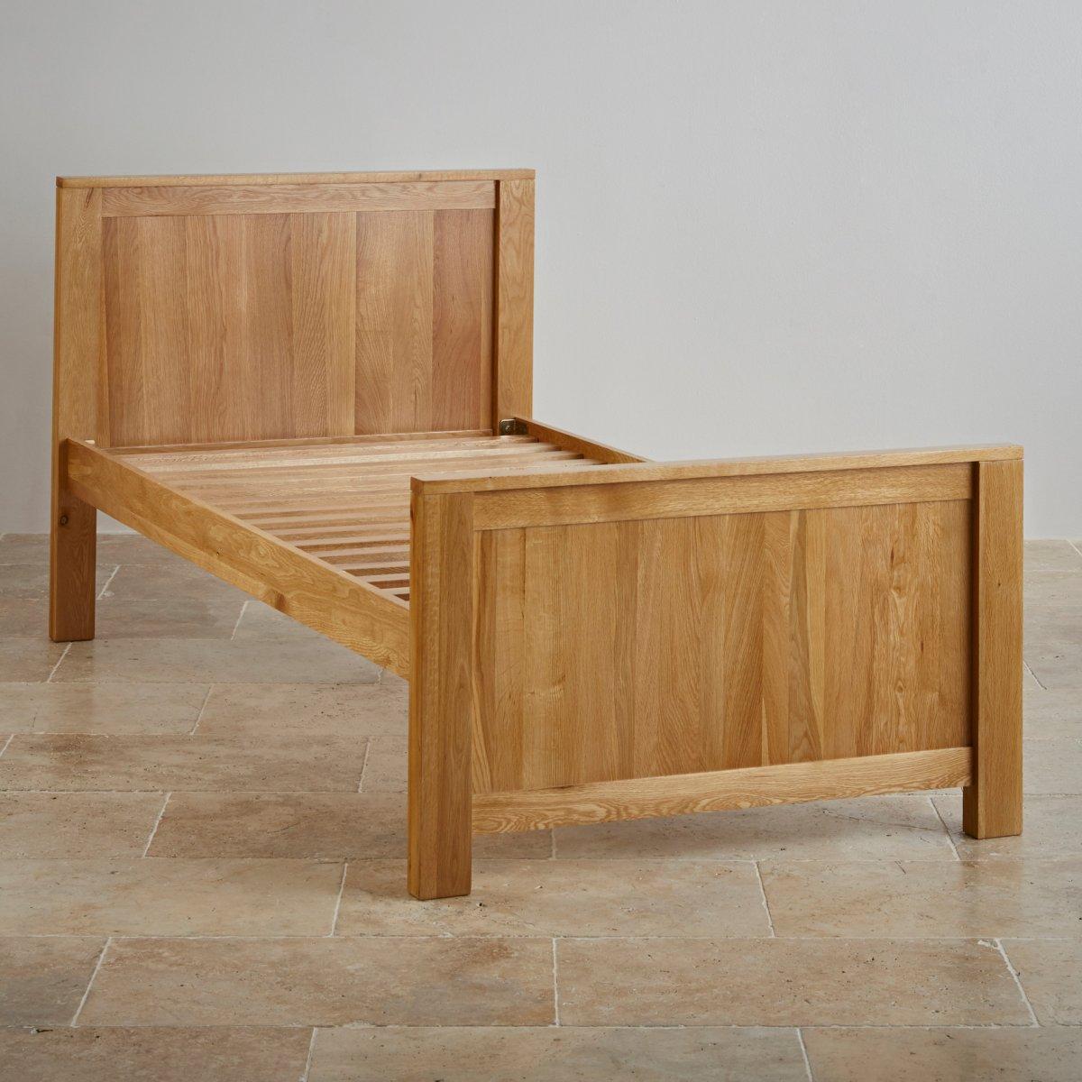 Single Bedroom Furniture Oakdale Natural Solid Oak Single Bed Bedroom Furniture