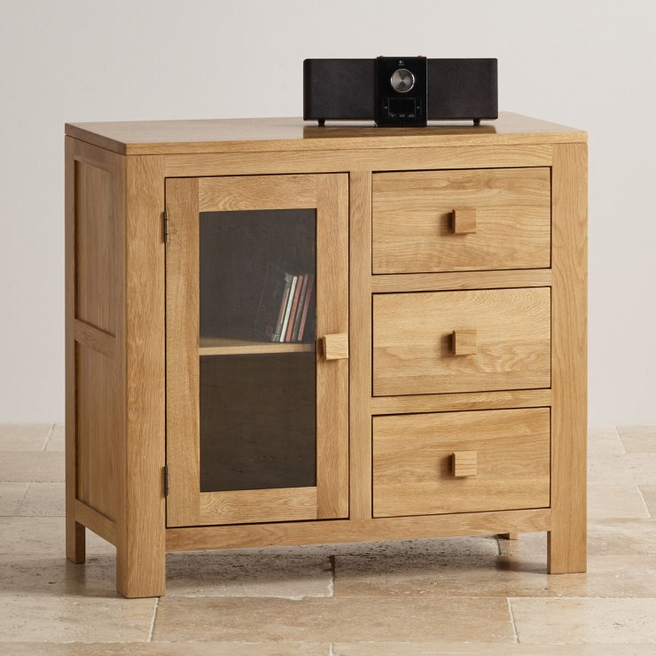 Media Cabinets Furniture: Oakdale Glazed Media Cabinet With 3 Drawers