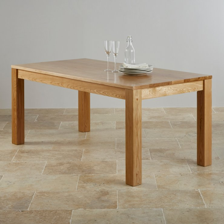 Oakdale Natural Real Oak 6ft x 3ft Dining Table