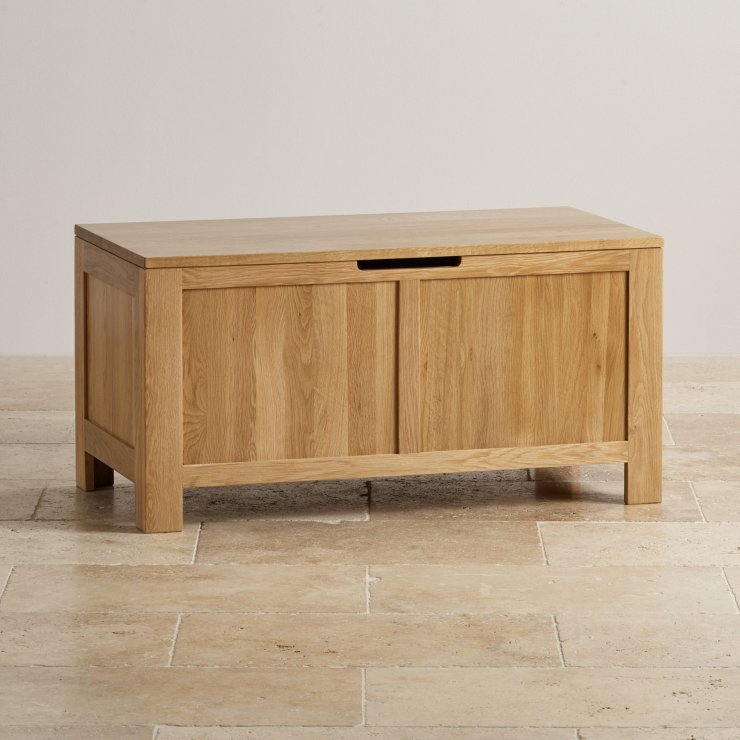 Oakdale Natural Solid Oak Blanket Box