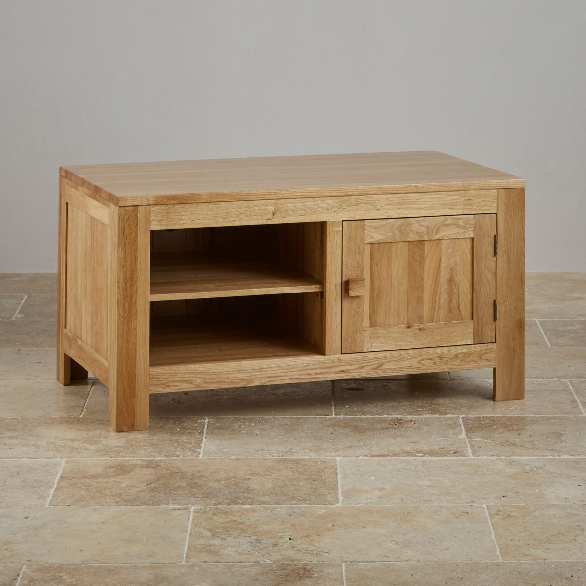 Oakdale TV DVD Cabinet In Natural Solid Oak