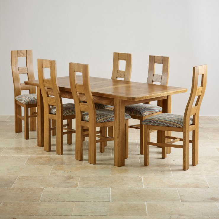 Orrick Extending Dining Set in Rustic Oak Table 6 Beige  : orrick 4ft 7 x 3ft rustic solid oak extending dining table 6 wave back striped fabric chairs 5735aee4345dd9030bb855b6abd5c6bd1de2242c490f1 from www.oakfurnitureland.co.uk size 740 x 740 jpeg 82kB