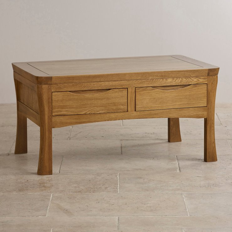 Orrick 4 Drawer Coffee Table In Rustic Oak Oak Furniture Land