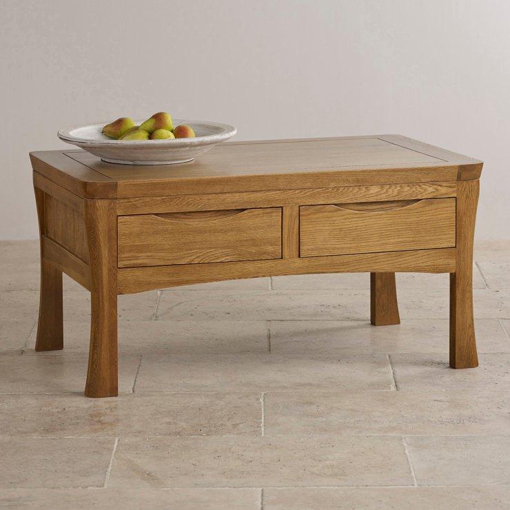 Orrick 4 Drawer Coffee Table In Rustic Oak Oak Furniture Land