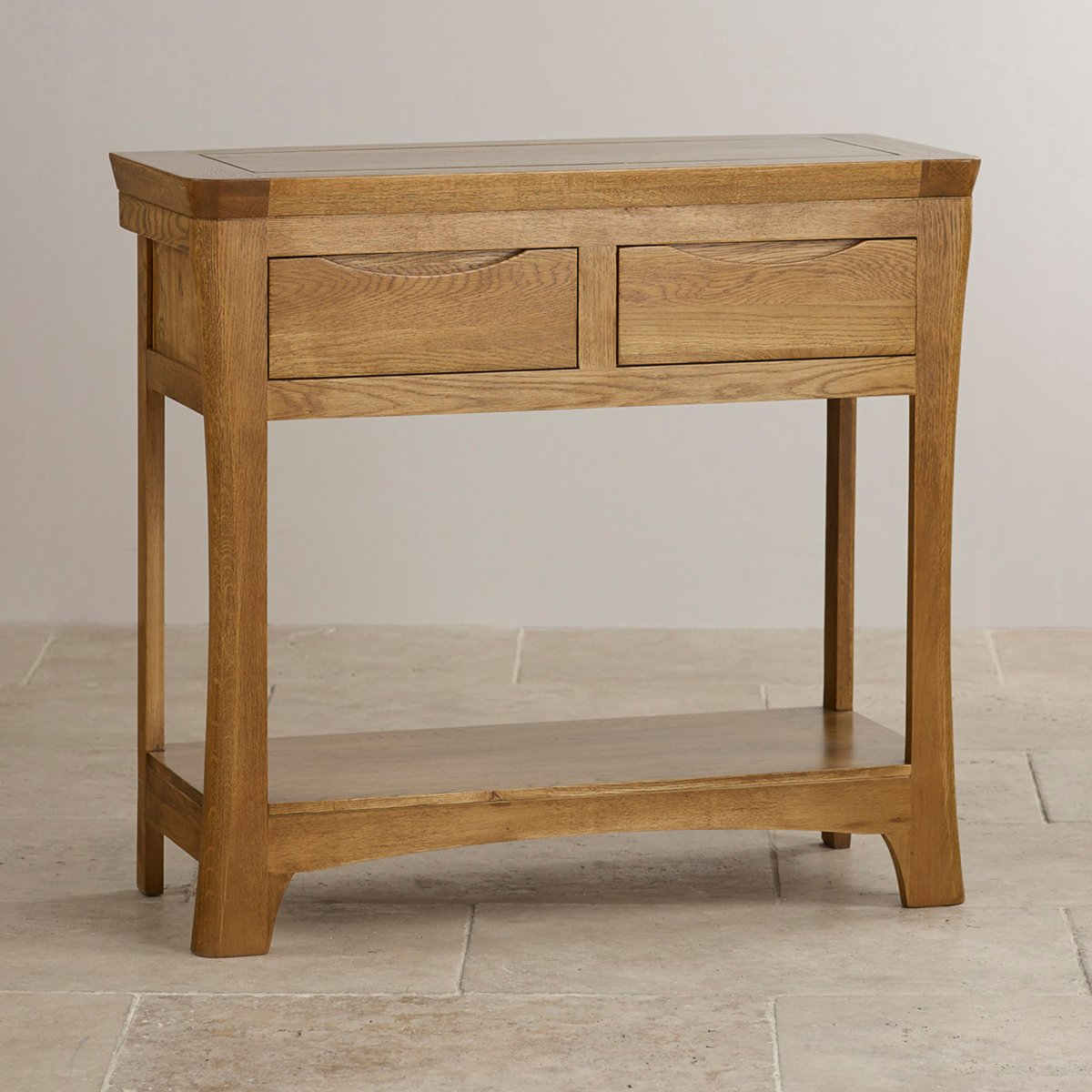console tables   solid hardwood  oak furniture land - custom delivery orrick rustic solid oak console table