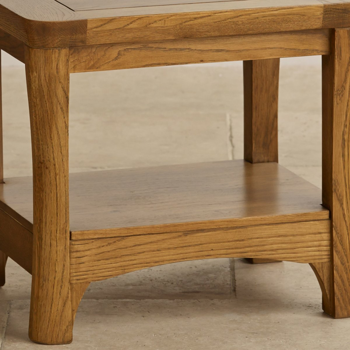 Orrick Lamp Table In Rustic Solid Oak Oak Furniture Land