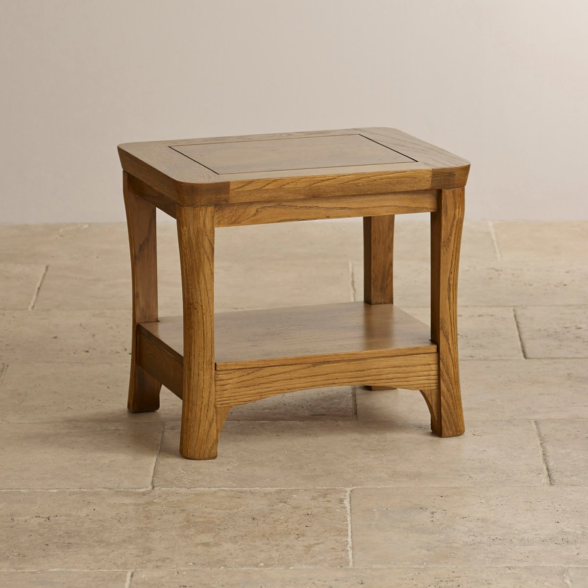 Orrick Lamp Table in Rustic Solid Oak