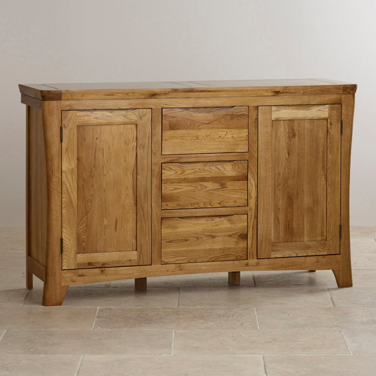 Orrick large sideboard solid oak oak furniture land for Oak furniture land