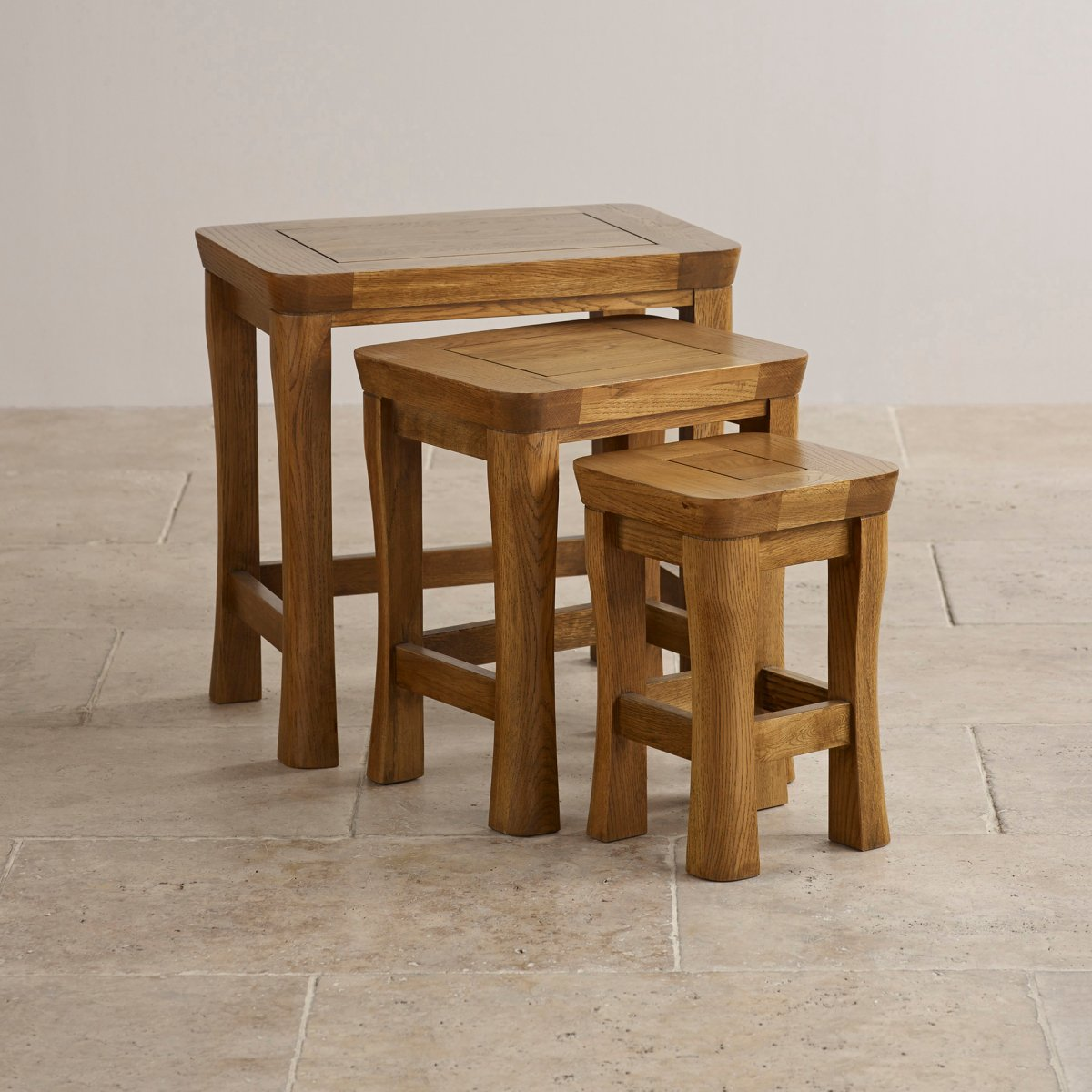 Orrick nest of tables solid oak furniture land