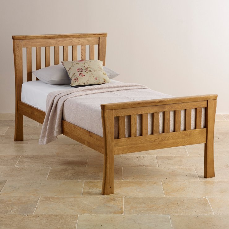 Orrick Rustic Solid Oak Single Bed