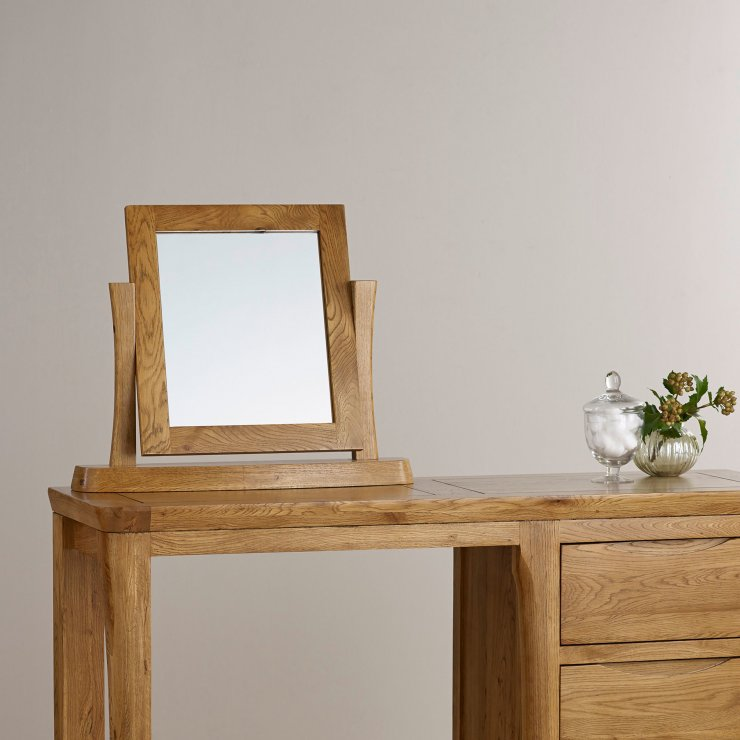 Orrick Rustic Solid Oak Dressing Table Mirror