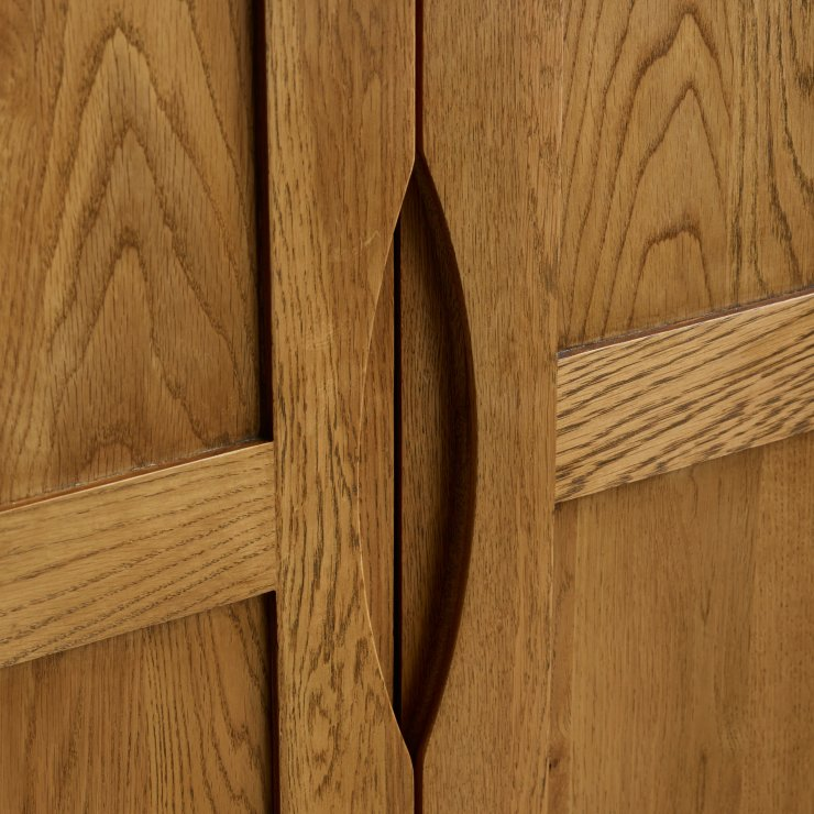 Orrick Rustic Solid Oak Double Wardrobe