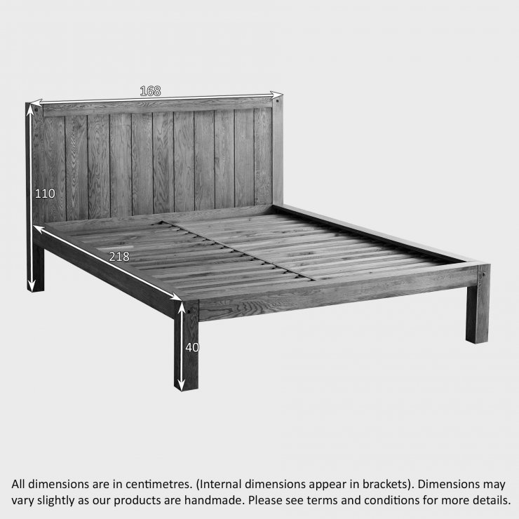 Quercus Rustic Solid Oak 5ft King-Size Bed