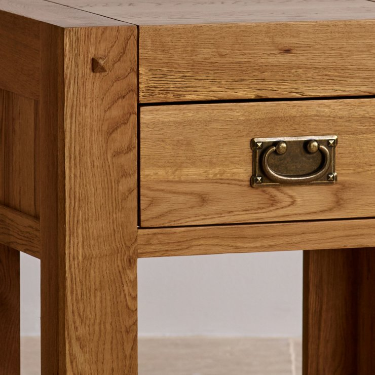 Quercus Rustic Solid Oak 1 Drawer Bedside Table