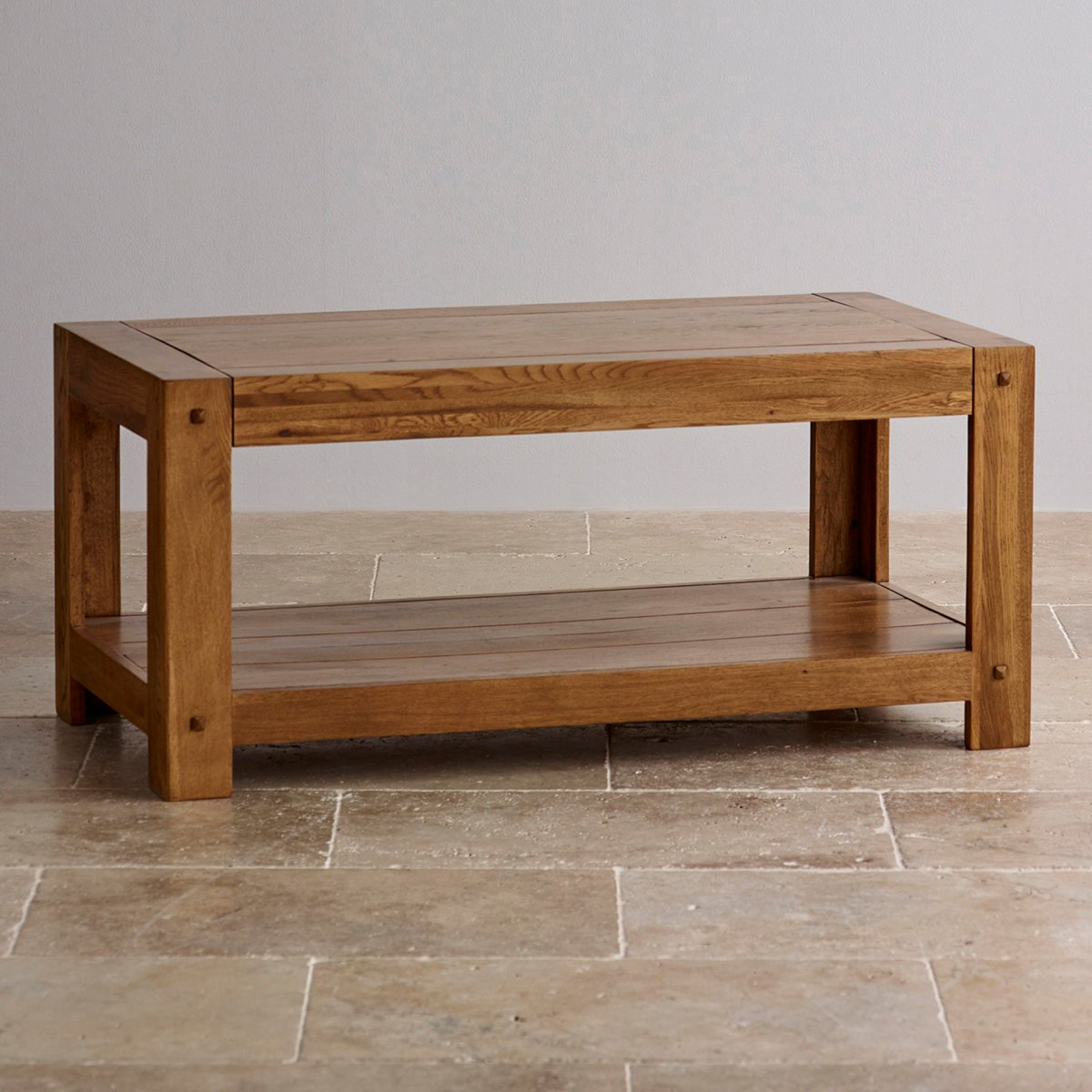 Quercus Coffee Table In Rustic Solid Oak Oak Furniture Land