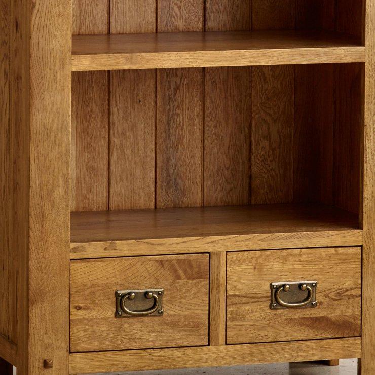 Quercus Tall Bookcase in Rustic Oak | Oak Furniture Land